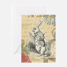 White Rabbit from Alice in Wonderland Greeting Car