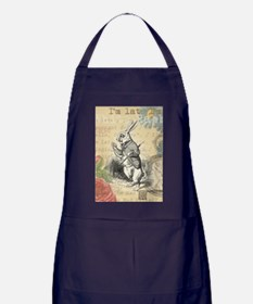 White Rabbit from Alice in Wonderland Apron (dark)