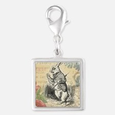 White Rabbit from Alice in Wonderland Charms