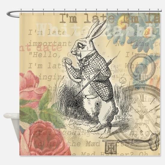 White Rabbit from Alice in Wonderland Shower Curta
