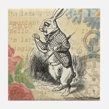 White Rabbit from Alice in Wonderland Tile Coaster