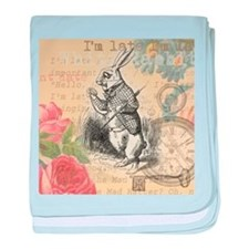 White Rabbit from Alice in Wonderland baby blanket