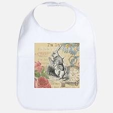 White Rabbit from Alice in Wonderland Bib