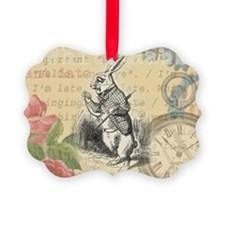 White Rabbit from Alice in Wonderland Ornament