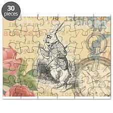 White Rabbit from Alice in Wonderland Puzzle