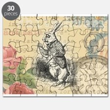 White Rabbit from Alice in Wonderland Puzzle