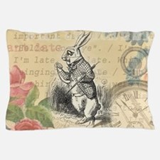 White Rabbit from Alice in Wonderland Pillow Case