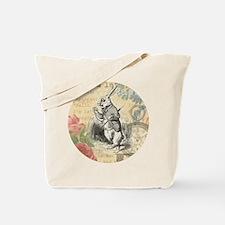 White Rabbit from Alice in Wonderland Tote Bag