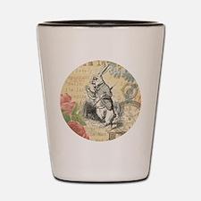 White Rabbit from Alice in Wonderland Shot Glass