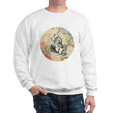 White Rabbit from Alice in Wonderland Sweatshirt
