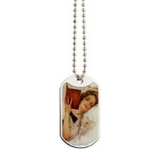 Victorian Lady Reading Dog Tags