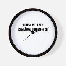 Trust Me, Im A Cinematographer Wall Clock