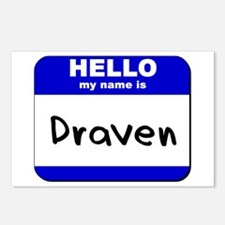 hello my name is draven  Postcards (Package of 8)