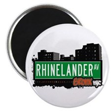 "Rhinelander Av, Bronx, NYC  2.25"" Magnet (10 pack)"