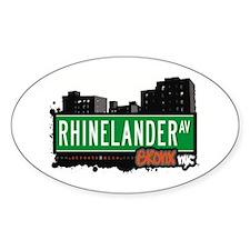 Rhinelander Av, Bronx, NYC Oval Decal