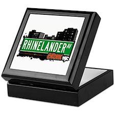 Rhinelander Av, Bronx, NYC  Keepsake Box