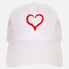 Abstract Heart Baseball Baseball Baseball Cap