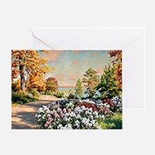Krouthen - Autumn by the Lake, Johan Greeting Card
