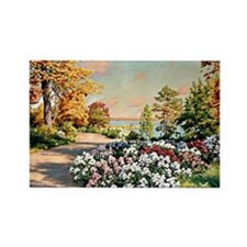 Krouthen - Autumn by the Lake, Jo Rectangle Magnet