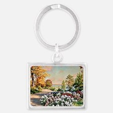 Krouthen - Autumn by the Lake,  Landscape Keychain