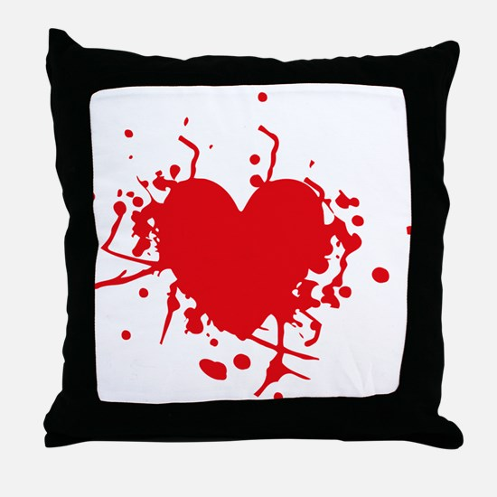 Bloody Heart Throw Pillow