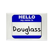 hello my name is douglass Rectangle Magnet