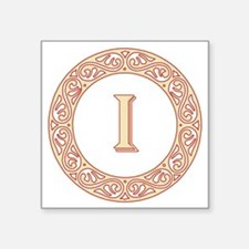 "Monogram I vintage symbol Square Sticker 3"" x 3"""
