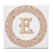 Monogram E vintage symbol Tile Coaster
