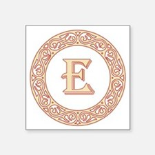 "Monogram E vintage symbol Square Sticker 3"" x 3"""