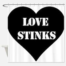 Love Stinks Shower Curtain