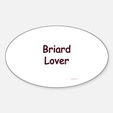 Briard Lover Oval Decal