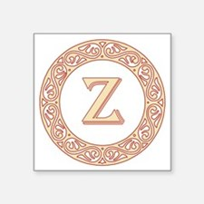 "Monogram Z vintage symbol Square Sticker 3"" x 3"""
