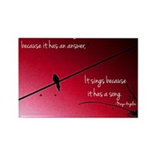 Bird on a Wire Rectangle Magnet