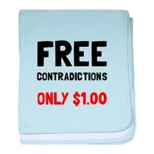 Free Contradictions baby blanket
