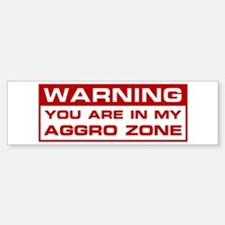 Aggro Zone Bumper Bumper Bumper Sticker