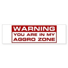 Aggro Zone Bumper Bumper Sticker