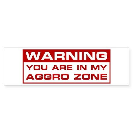 Aggro Zone Bumper Sticker