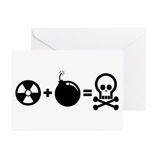Nuclear Plus Bombs Greeting Cards (Pk of 10)