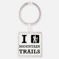 Hike Mountain Trails Keychains