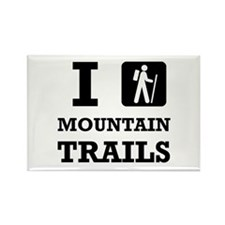 Hike Mountain Trails Magnets