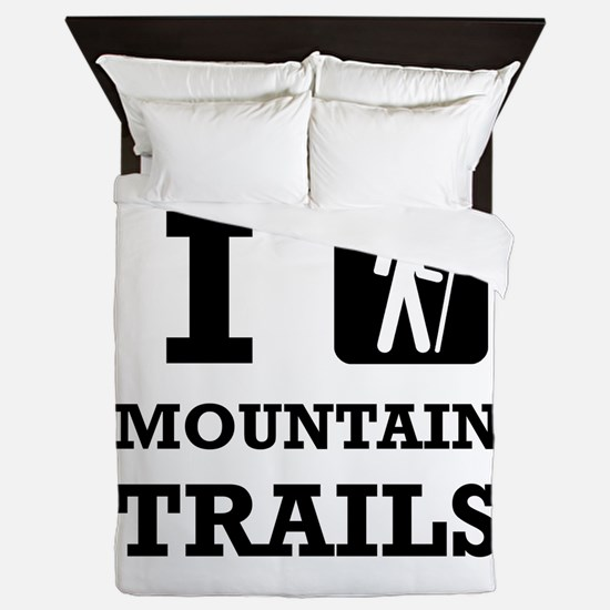 Hike Mountain Trails Queen Duvet