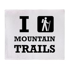 Hike Mountain Trails Throw Blanket