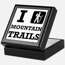 Hike Mountain Trails Keepsake Box