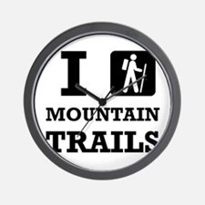 Hike Mountain Trails Wall Clock