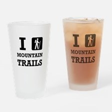 Hike Mountain Trails Drinking Glass