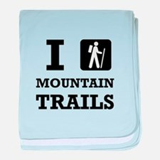 Hike Mountain Trails baby blanket