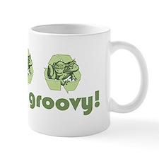 Green is Groovy frog Mug