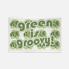 Green is Groovy frog Rectangle Magnet