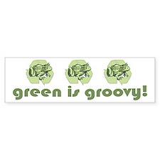 Green is Groovy frog Bumper Bumper Sticker