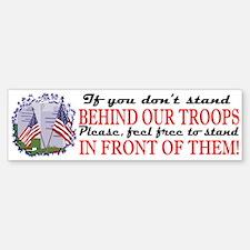 Behind Our Troops Bumper Car Car Sticker